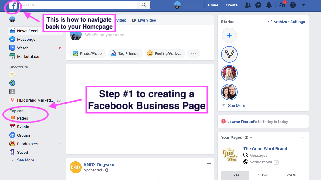 Facebook Business Page Tips- Where to Start | HER Brand Marketing